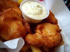 An easy recipe for perfect, crispy and crunchy, golden brown beer battered fish and chips!