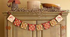 Primitive Folk Art HO HO HO Christmas Polka by thecracklingcrows, $28.00