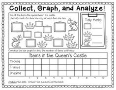 "Sample page from ""DATA DAZE: COLLECTING, GRAPHING, AND ANALYZING DATA {GRADES 1-2}"" - 23 pages, $ TeachersPayTeachers.com"