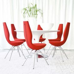 Buy Online Date Chair Steel Structure Seat Coated with Fabric by Varier.