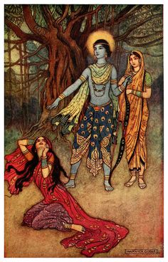 Rama spurns the Demon Lover - Indian Myth and Legend, 1913