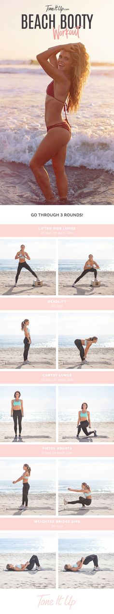 Beach Booty!! The 10-Minute Lower Body Workout We'll Be Doing All Summer – ToneItUp.com