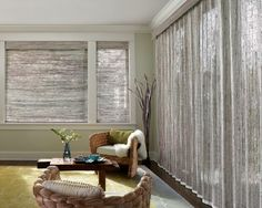 Hunter Douglas woven wood shades and drapery