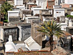 St. Louis Cemetery No. 1, New Orleans. Seen from Basin Street Station.