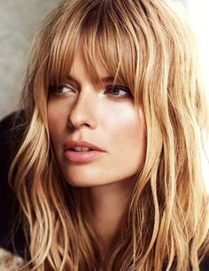 Layered Hairstyles with Short Bangs - Long Haircuts for Women