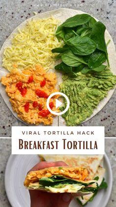 Low Carb Chicken Recipes, Mexican Food Recipes, Vegetarian Recipes, Cooking Recipes, Healthy Recipes, Breakfast Tortilla, Healthy Breakfast Wraps, Breakfast Recipes, Breakfast Time