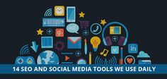 These are the 15 SEO and Social Media tools we use every day at E2M to help our clients. #SocialMedia #Tools #SocialMediaMarketing