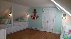 Beach  Attic Bunk Room/Built-in beds  HASS HOUSE- Susie Bajakian Kennebunkport