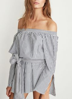 FAITHFULL THE BRAND Bisque Playsuit in Cove Stripe | Nic del Mar