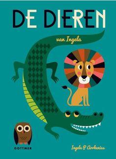 'De dieren van Ingela' is een prachtig boek voor peuters boordevol mooie design-dieren van de Zweedse ontwerpster Ingela P Arrhenius.