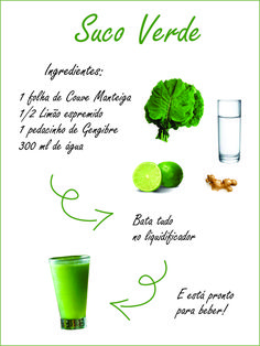 Suco verde detox com couve Green juice detox with cabbage Green juice, so-called detox are excellent for cleaning the body … Colon Cleanse Detox, Natural Colon Cleanse, Liver Detox, Natural Detox, Bebidas Detox, Smoothies Detox, Detox Drinks, Detox Tips, Detox Recipes