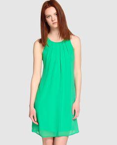 Vestido sin mangas de mujer Fórmula Joven en color verde