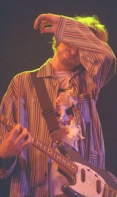 Kurt Cobain in Hollywood Rock on 1993. Nirvana performed on the days 15, 16 and 17 January in São Paulo (in Estádio do Morumbi) and one week later in Rio de Janeiro (in Apoteose). Those were Nirvana's only performances in Brazil.