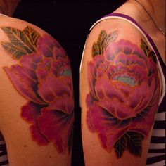 Floral tattoo by Tattoo Culture, via Flickr  I l love the lining on this flower!
