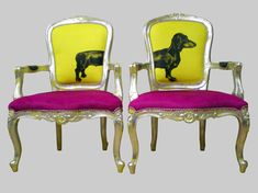 """Sausage Dogs"" Chairs by Jimmie Martin LTD"