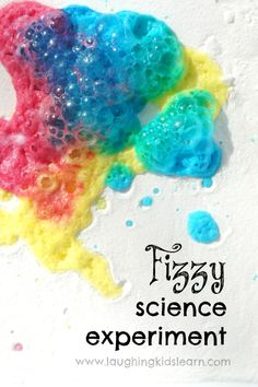 Easy science experiment for kids that will teach them about colours and chemical reactions. Perfect for developing fine motor skills too.