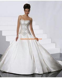 Stuttgart Brautkleid aus Satin A-Linie online kaufen