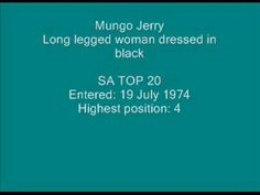 Mungo Jerry - Long legged woman dressed in black. Summer Time, Music Videos, African, Positivity, Woman, Youtube, Black, Dresses, Vestidos