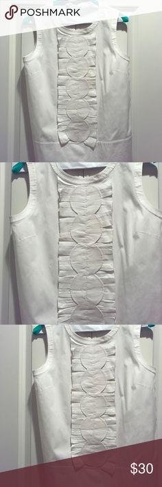 Kate Spade white sleeveless shirt. Kate Spade white sleeveless shirt. Size two. Only worn once. kate spade Tops Blouses