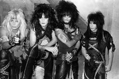 In preparation for an upcoming show at the Santa Monica Civic, Mötley Crüe rehearses at Perkins Palace in Pasadena on November 9, 1983; left to right, Vince Neil, Tommy Lee, Nikki Sixx, and Mick Mars. (Photo by Gary Leonard) vintage everyday: 20 Rarely Seen Photos of Los Angeles Rock Bands From the Late 1970s to the 1980s