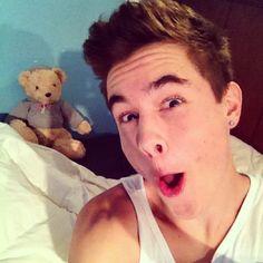way too happy to see a teddy bear - Kian Lawley