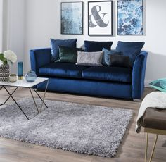 Buy Ribbon Shaggy Silver Rug at Carpetright, the UK's leading carpet, flooring and rug retailer. Buy from our new range of great value online exclusive rugs today. Silver Rug, Furniture, House, Love Seat, Home Decor, Rugs, Flooring, Door Mat, Couch