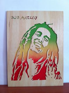 Bob marley wooden picture wall art scroll saw by Planetasierra