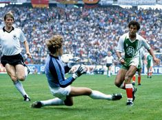 So sure of victory were West Germany over Algeria at the 1982 World Cup that they refused to prepare and suggested they'd score eight Men's Football, Football Shirts, Afrique Foot, Football Tracksuits, 1982 World Cup, The Last Laugh, We Are The Champions, Kids Soccer, Vintage Football