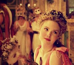 Holliday Grainger as Lucrezia Borgia in The Borgias (although Borgias: Faith and Fear is more historically accurate, this one is just better acted and so beautiful.)