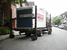 How to Buy a Used Shipping Container. A shipping container is a modular metal unit often used to transport goods by sea or land. They are commonly built from steel, making them very durable and weather-resistant. You can convert a shipping. Pods Moving Cost, Pods Moving And Storage, Moving Storage Containers, Storage Pods, Moving Costs, Buy Shipping Container, Shipping Containers, Mobile Living, Self Storage