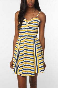 Jack By BB Dakota Lund Stripe Dress  #UrbanOutfitters You can tell on the model that this dress fits better on an hourglass. Can't wait to try this one on!