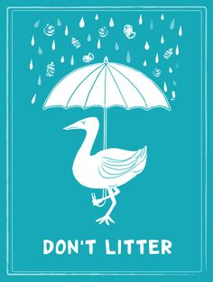 Anti-litter campaign poster by Hillary Lacher.