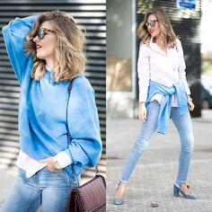 Get this look: http://lb.nu/look/8461951  More looks by Helena Cueva: http://lb.nu/miaventuraconlamoda  Items in this look:  River Side Shirt, Buylevard Jeans   #casual #chic #street