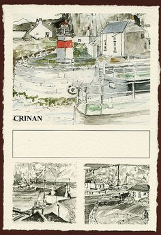 CRINAN CANAL  - | by PARK@ARTWORKS Watercolour, Artworks, Memories, Ink, Drawings, Artist, Prints, Painting, Inspiration