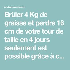 Brûler 4 Kg de graisse et perdre 16 cm de votre tour de taille en 4 jours seulement est possible grâce à cette recette miraculeuse ! Les résultats sont garantis! Tour, Food And Drink, Diet, Health, Inspiration, Africa, Gym, Weight Loss Drinks, Get Skinny Fast