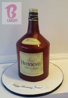 Decorated Hennessy Bottle Hennessy Bottle Cake  Yes It's Cake Pinterest  Hennessy