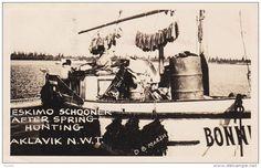 RP: Eskimo Schooner Hunting , AKLAVIK , N.W.T. , Canada , PU-1955 Item number: 281888685  - Delcampe.com