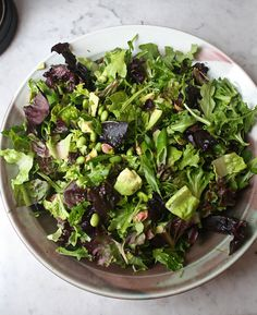 Herbed Salad with Grapefruit Cardamom Vinaigrette