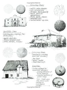 Pen and ink techniques by Caludia Nice from her book: Painting Weathered Buildings in Pen, Ink & Watercolor.