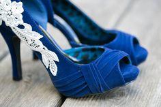 Wedding Shoes Blue Bridal Heels Blue Wedding Shoes by walkinonair