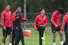 United train before the opening Champions League fixture of the season.