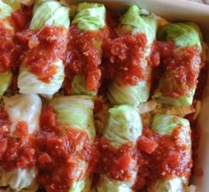 Baked cabbage rolls