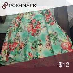 Mint Floral Skirt like Lularoe Small Mint floral skirt that is like Lularoe Madison skirt! So pretty! Worn once. Size small! LuLaRoe Skirts A-Line or Full
