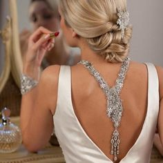 bejewelled back.. via glamour-glitter-gold.tumblr.com #roomiewedding