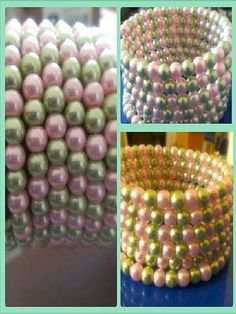 bracelets are made with pearls