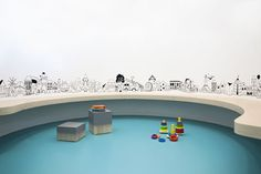 A Happy Place: 'Nipiaki Agogi' Kindergarten by Proplusma Arkitektones | stackable cube furniture and curving walls