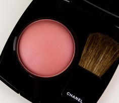 Chanel Fall 2011: Rose Ecrin Joues Contraste is a neutral pink with a satin sheen. It's neither warm nor cool, but I would say it leans slightly yellow. It is a subtle blusher as the color blends out to a semi-sheer dusting of rosy pink with a hint of beige once applied. A buildable color, but the color itself is muted so it will never be too much. best on light to medium skin tones. It makes a great everyday blush and works well with the darker eyes and lips of fall.
