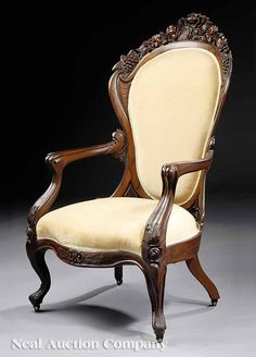 c1860 Rococo side chairs, JH Belter, NYC, Rosalie pattern, lmntd rswd, 43t, 07-5.