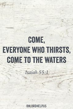 We are thirsty creatures. There are different types of thirst and we search for a drink all of our lives. Some people are quenched while others are not... Women of Faith | Spiritual Growth | Christian Mentoring