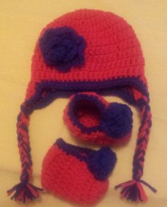Hats $20 Hats and Booties $25 Hats & Adult slippers $30 Headbands and Shoes $25 Headbands Shoes & Hat $30 Hat & Sweater $30-40 Hat & Diaper Sets $25 Hat & Cocoon Sets $30 If you don't see what you like just ask and I can make it. Any color and design. Add ears, flower, bow or animal. Hats from newborn to adult, diaper covers up to 9 months, sweaters up to 2 years. Cocoons up to 6 months contact - magicfingers1973@yahoo.ca